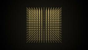Projeto da partícula do ponto da caixa do cubo, cosmos artístico virtual, 4K ilustração do vetor