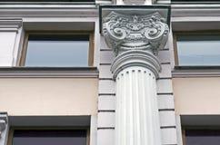 Projeto da parte superior da coluna no estilo antigo imagem de stock royalty free