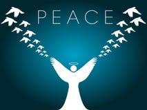 Projeto da paz do cartão de Natal ilustração do vetor