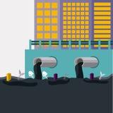 Projeto da poluição, ilustração do vetor Fotografia de Stock Royalty Free