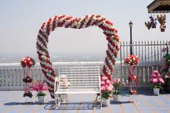 Projeto da porta das flores Imagens de Stock Royalty Free