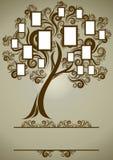 Projeto da árvore de família do vetor com frames Imagens de Stock Royalty Free