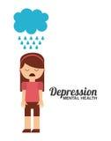 Projeto da saúde mental ilustração do vetor