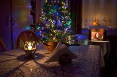Projeto da sala do Natal na casa Imagens de Stock Royalty Free