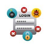 Projeto da segurança do Cyber Fotos de Stock