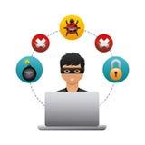 Projeto da segurança do Cyber Fotografia de Stock Royalty Free