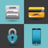 Projeto da segurança do Cyber Imagem de Stock