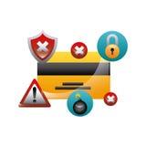 Projeto da segurança do Cyber Foto de Stock