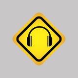 projeto da silhueta do ícone do DJ Fotografia de Stock Royalty Free