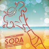 Projeto da soda ilustração royalty free