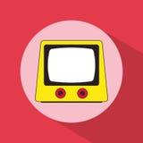 Projeto da sombra do vintage do televison do pop art ilustração do vetor