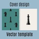 Projeto da tampa com teste padrão da xadrez ilustração royalty free