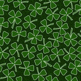 Projeto da tampa do cartão do vetor do dia de St Patrick Foto de Stock