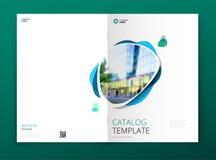 Projeto da tampa do catálogo Folheto da empresa, informe anual, catálogo, conceito da disposição do molde do compartimento ilustração royalty free