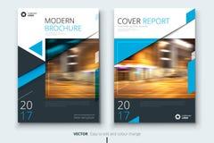 Projeto da tampa, do folheto ou do inseto do informe anual da empresa Apresentação do folheto Catálogo com geométrico abstrato ilustração do vetor