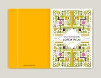 Projeto da tampa para o inseto do folheto do folheto Linha moderna arte do fundo Fundo colorido geométrico abstrato Tamanho A4 ilustração royalty free