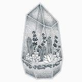 Projeto da tatuagem do Terrarium Fotos de Stock Royalty Free