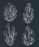Projeto da tatuagem dos conjuntos do cristal Imagens de Stock