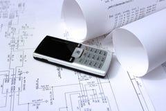 Projeto da tecnologia do telefone móvel Foto de Stock Royalty Free