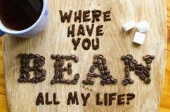 Projeto da tipografia do alimento do café Imagens de Stock Royalty Free