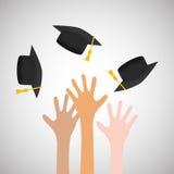 Projeto da universidade ilustração da graduação e da educação Foto de Stock Royalty Free