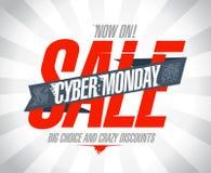 Projeto da venda de segunda-feira do Cyber Foto de Stock