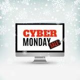 Projeto da venda de segunda-feira do Cyber Sumário, ackground do inverno Foto de Stock