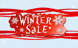 Projeto da venda do inverno Fotografia de Stock Royalty Free