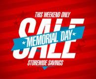 Projeto da venda do Memorial Day. Fotografia de Stock Royalty Free