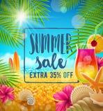 Projeto da venda do verão ilustração stock