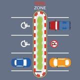 Projeto da zona de estacionamento Ilustração do Vetor
