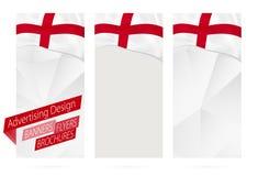Projeto das bandeiras, insetos, folhetos com a bandeira de Inglaterra ilustração royalty free