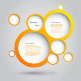 Projeto das bolhas. Imagens de Stock Royalty Free