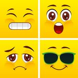 Projeto das caras do smiley Foto de Stock