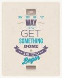 Projeto das citações da motivação Foto de Stock Royalty Free