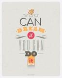 Projeto das citações da motivação Imagem de Stock
