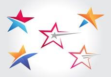 Projeto das coleções do ícone da forma da estrela ilustração do vetor