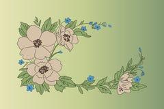 Projeto das flores Fotografia de Stock Royalty Free