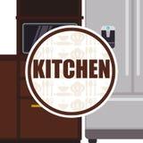 Projeto das fontes da cozinha Fotografia de Stock Royalty Free