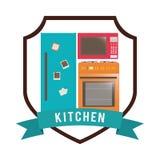 Projeto das fontes da cozinha Imagens de Stock