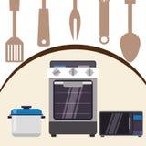 Projeto das fontes da cozinha Foto de Stock