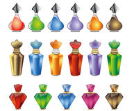 Projeto das garrafas de perfume dos cosméticos Foto de Stock