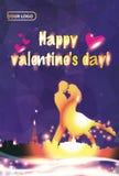 Projeto das ilustrações do dia do ` s do Valentim Foto de Stock Royalty Free