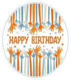 Projeto das mãos do feliz aniversario. Imagem de Stock
