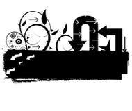 Projeto das setas de Grunge ilustração stock
