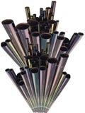Projeto das tubulações do metal imagens de stock