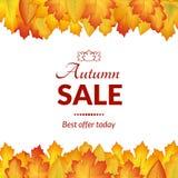 Projeto das vendas do outono do cartaz Foto de Stock Royalty Free