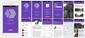 Projeto de app móvel, UI, UX, GUI ilustração royalty free