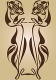 Projeto de Art Nouveau do quadro ilustração do vetor