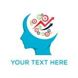 Projeto de ataque da cabeça do conceito do conhecimento do cérebro Fotos de Stock Royalty Free